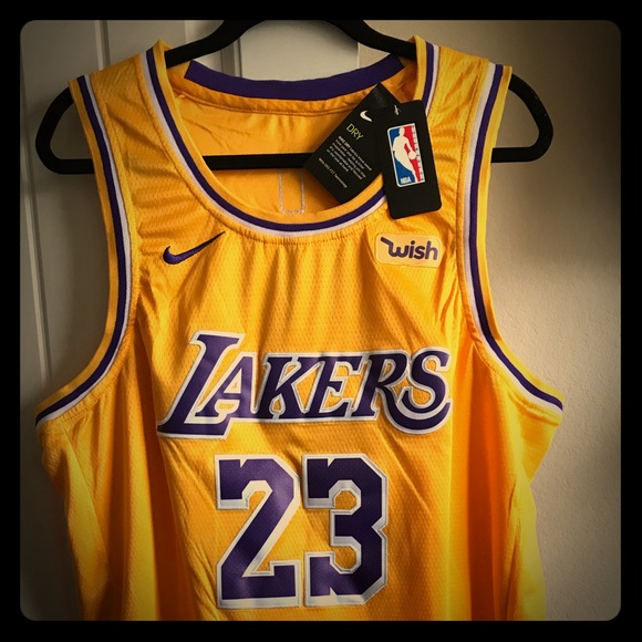 56db16122fdf Authentic Lebron James Lakers Jersey